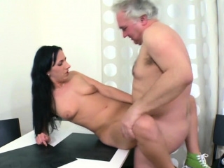 Sausage hungry wonderful girlie gets a big one