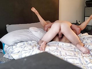 Having sex with my girlfriend.