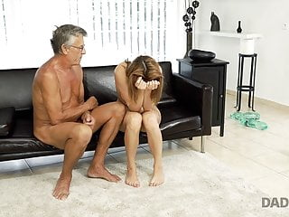DADDY4K. Cutie looks hot in wet swimsuit so why old..