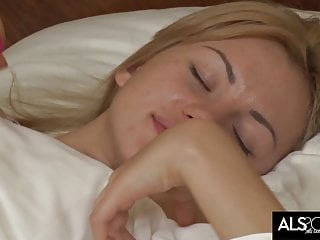Tiny Tits Blonde Wakes Up for Anal Orgasm with Big..