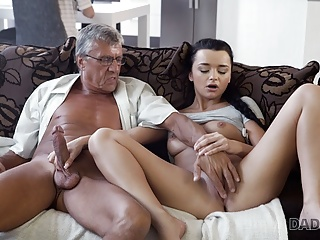 DADDY4K. Erica Black has wild sex with BFs daddy..